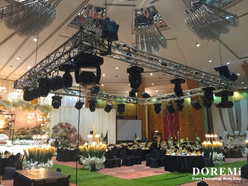 03 truss wedding banquet RGB led Music Video Stage structure led Creative Stage Console professional Sound Light Event DOREMi