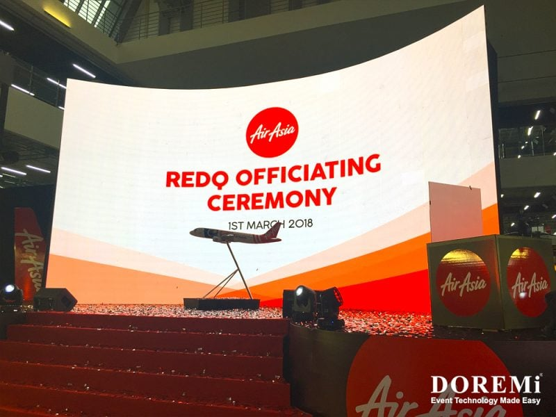 05 conference Airasia launching led Music Video Stage structure led Creative Stage Console professional Sound Light Event DOREMi