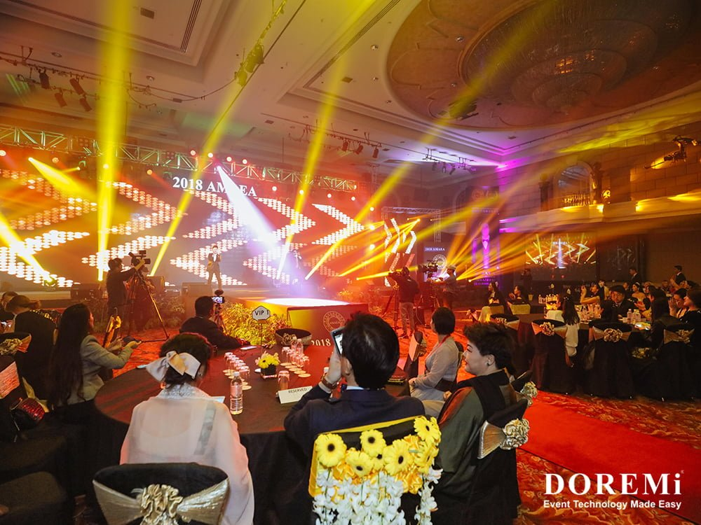 AMAEA LED Renaissance effect stage sound light high quality banquet deco beauty competition champion star korea sining