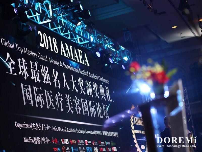 AMAEA LED Renaissance effect stage sound light high quality banquet deco rostrum