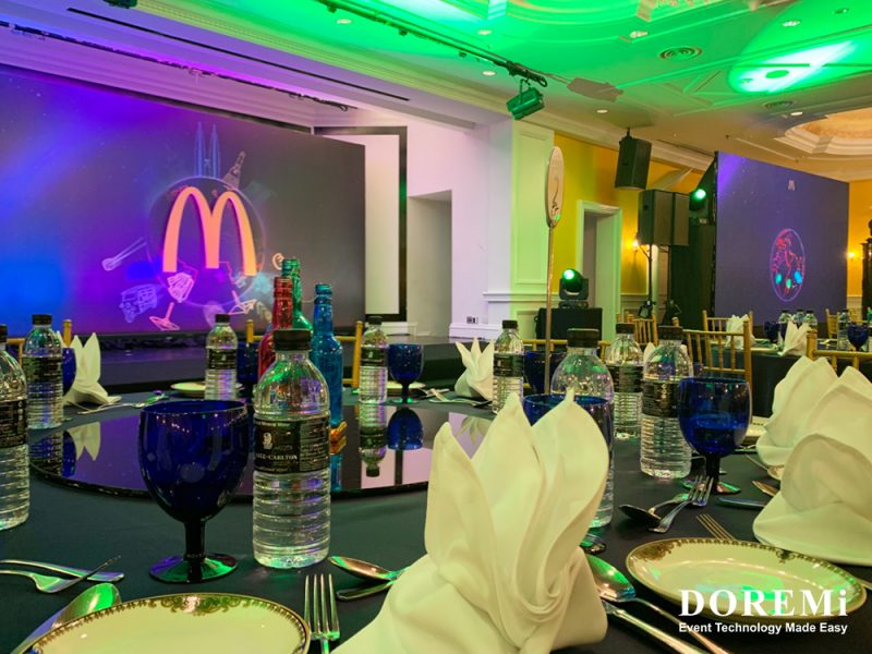 Mcdonalds Event 2019 Malaysia Philippines LED sound light DOREMi effect stage award ritzcarlton h