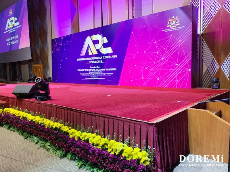 APC PICC Doremi Event 2019 SoundSystem LightingSystem BackdropTruss LEDScreen2